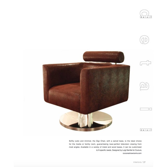 """Luigi Gentile """"Gigi"""" Swivel Lounge Chair for Couture For Sale - Image 9 of 10"""
