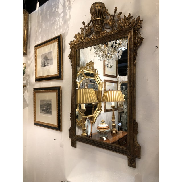 Gilt Mirror With Balloon Basket Frieze For Sale - Image 11 of 13