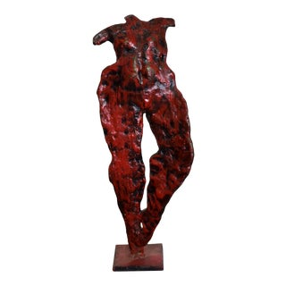 Mid-Century Modern Abstract Bronze Nude Sculpture, Giacometti Era For Sale