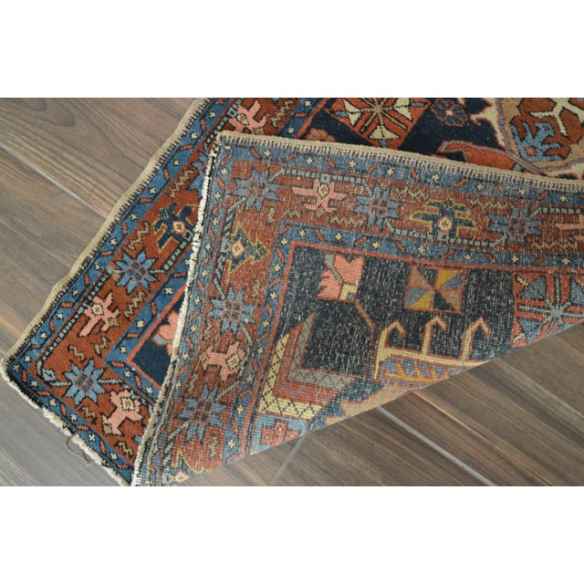 Islamic 1920s Antique Heriz Rug - 2′9″ × 4′6″ For Sale - Image 3 of 4