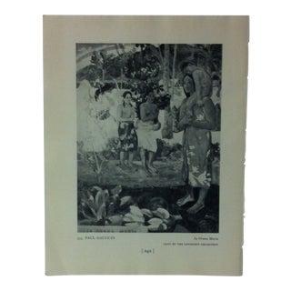"Circa 1940 ""La Orana Maria"" by Paul Gauguin Masterpiece of Art Print For Sale"
