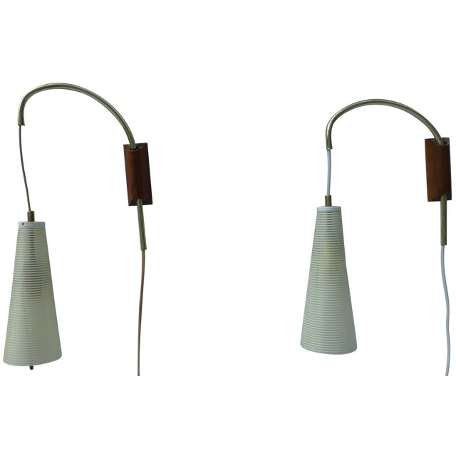 Mid-Century Counterweight Wall Sconces - A Pair - Image 1 of 11