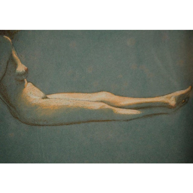 1900 - 1909 Original Nude Figures Pastel Drawing on Paper by Victor Coleman Anderson For Sale - Image 5 of 11