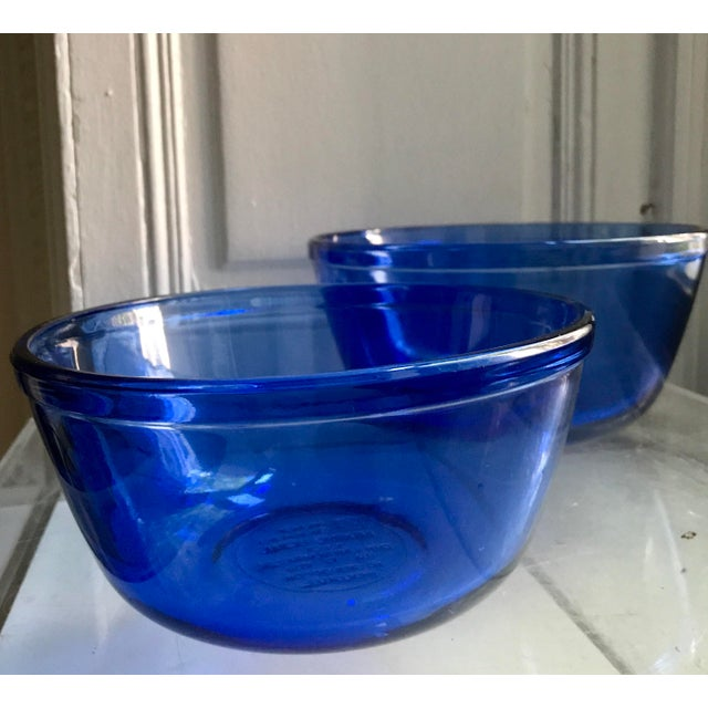 Vintage Anchor Hocking Cobalt Blue Mixing Bowls - Image 5 of 9