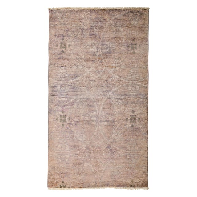 "Overdyed Hand Knotted Area Rug - 3' X 5'3"" - Image 1 of 3"
