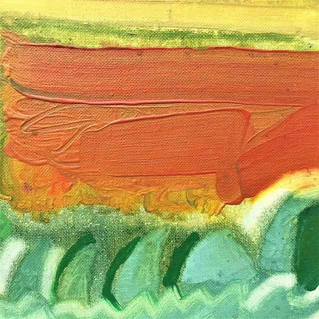 1970s Expressionist Landscape by Norman F. Goodwin For Sale - Image 6 of 8