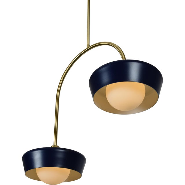 Nevada Navy Blue Ceiling Fixture For Sale - Image 4 of 5