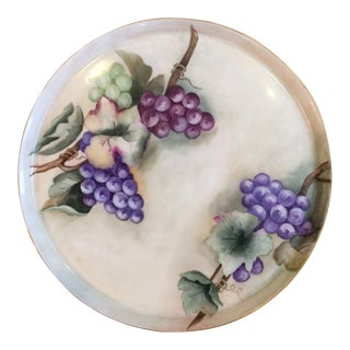 Limoges Grape Motif Charger Plate Platter For Sale