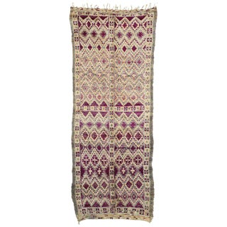 20th Century Moroccan Beni M'Guild Berber Rug - 5′8″ × 14′3″ For Sale