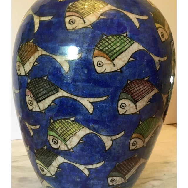 Vintage Persian Fish Vase For Sale - Image 10 of 11
