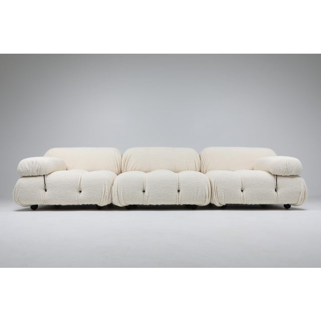 Mario Bellini, Italy 1970s, camaleonda sofa, reupholstered in bouclé wool. Postmodern sectional sofa by Mario Bellini for...