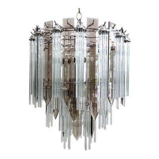 Mid Century Modern Glass Chandelier For Sale