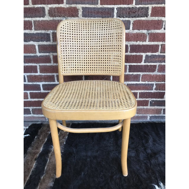 "Early 20th Century Vintage Josef Hoffmann ""Prague"" Chairs- Set of 4 For Sale - Image 5 of 9"