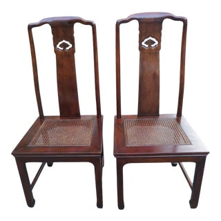 Mid 20th Century Henredon Pan Asian Dining Side Chairs 27-8902 - a Pair For Sale