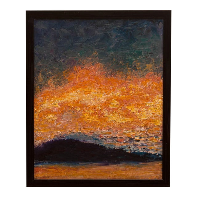 """""""Sunrise"""" Abstract Modern Painting For Sale"""