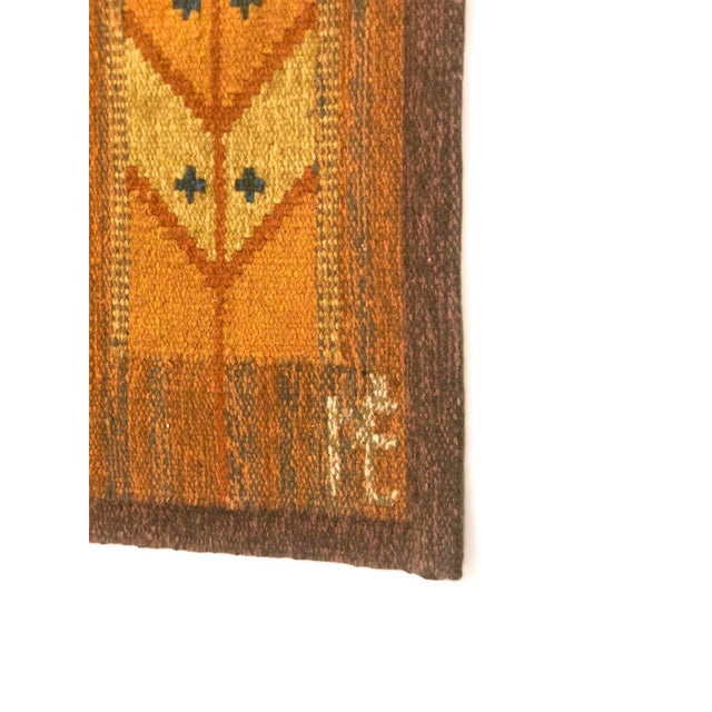 1960s Wall Hung Tapestry - 3′6″ × 4′11″ For Sale - Image 4 of 9