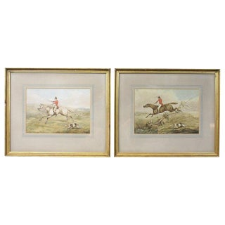 Pair of Original Watercolor Paintings by Henry Thomas Alken For Sale