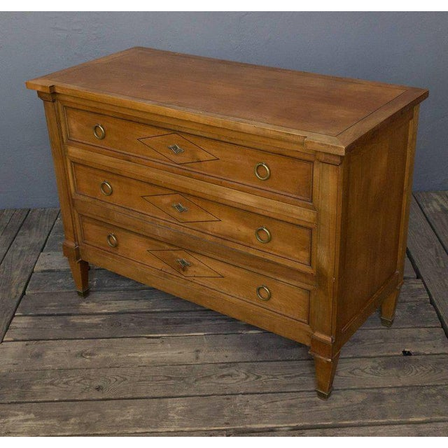 Brown Neo Directoire Style Fruitwood Chest of Drawers For Sale - Image 8 of 10