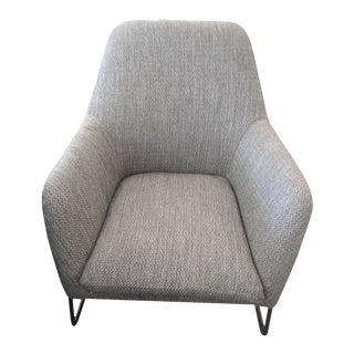 Meteorite Dark Gray Chair, Black Metal Frame