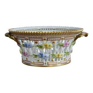 Royal Copenhagen Flora Danica Fruit Basket For Sale