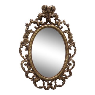 Oval Scroll Frame Mirror For Sale