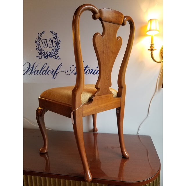 French Original 1930s Burlwood Maple Side Chair For Sale - Image 3 of 11