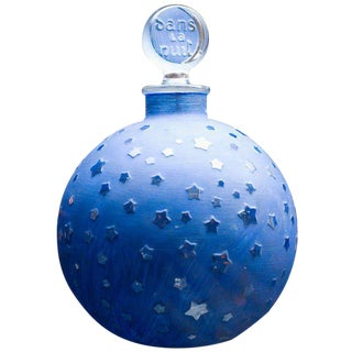 "Rare Huge Lalique ""Stars"" Dans la Nuit Post-War Factice Perfume Bottle For Sale"