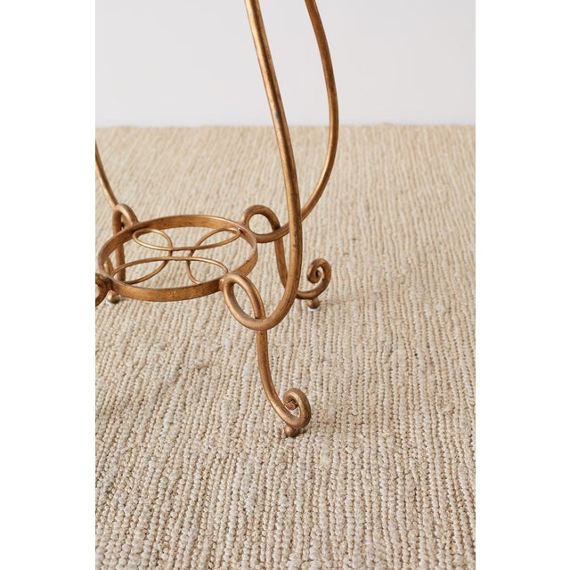 Rene Drouet Style Gilded Iron and Granite Table For Sale - Image 10 of 13