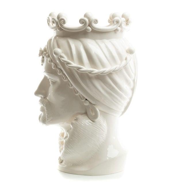 Modern Sicilian Gigante Head, Schittone Modern Moro For Sale - Image 3 of 10