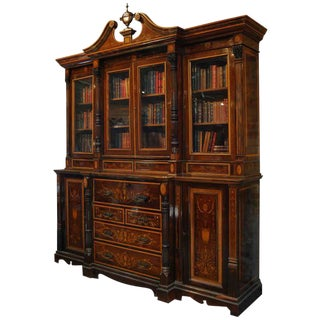 Edwardian Bookcase and Secretaire For Sale