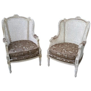 French Bergere Chairs - A Pair For Sale