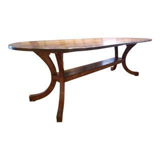 Race Track Oval Dining Table For Sale