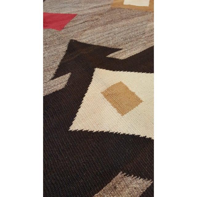 "20th Century Folk Art Navajo Carpet - 4'6""x7' For Sale - Image 4 of 9"