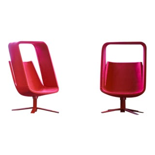 Haworth Windowseat Lounge Chairs - A Pair For Sale