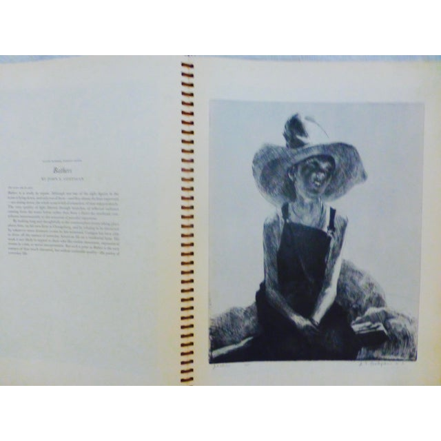 Blue 1939 Treasury of American Prints: Benton, Wood, Curry, Hopper For Sale - Image 8 of 11
