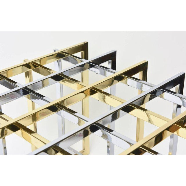 Pierre Cardin Sculptural Grid or Puzzle Side Table - Image 7 of 10