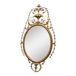 Carved Round Gilt Mirror