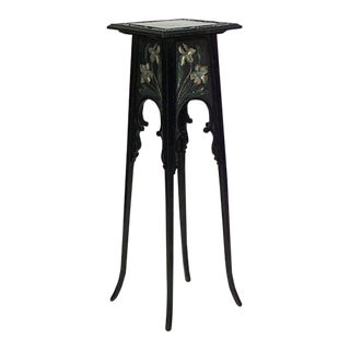 French Art Nouveau Ebonized Pedestal For Sale
