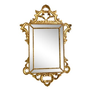 Antique Gold Gilt Carved Wood Mirror For Sale