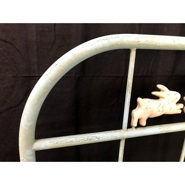 'Jumping Bunny' Twin Iron Beds by Corsican - A Pair For Sale - Image 10 of 13