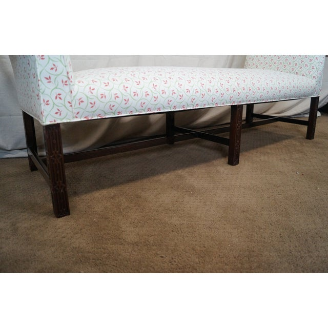 Antique Mahogany Chippendale 6 Leg Window Bench For Sale - Image 7 of 10