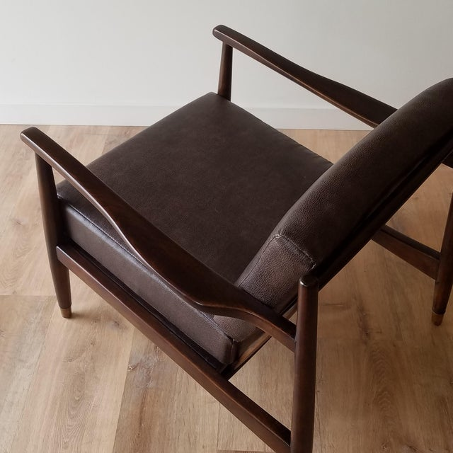 1960s 1960s Newly Upholstered Folke Ohlsson Lounge Chair For Sale - Image 5 of 13