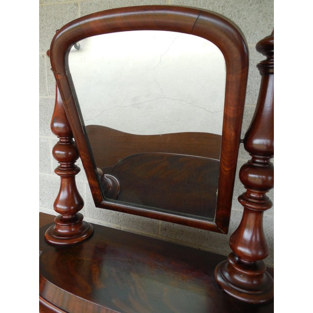 Antique Empire Period Mahogany Dressing Mirror For Sale - Image 4 of 13