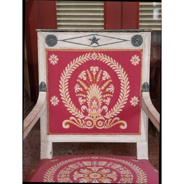 Early 19th Century French Consulate Fauteuils - Pair For Sale In New Orleans - Image 6 of 8