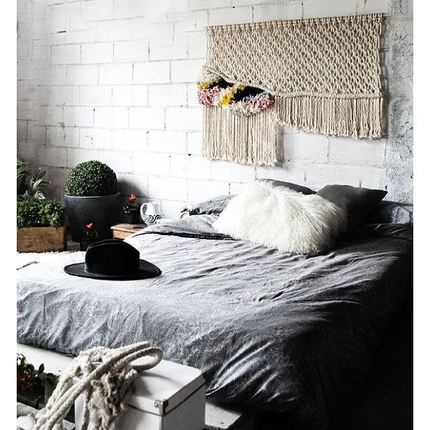 Modern Boho Chic Macrame Wall Hanging For Sale - Image 4 of 5