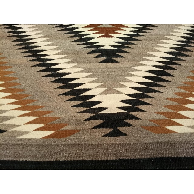 Textile Antique Navajo Eye Dazzler Rug - 3′4″ × 4′3″ For Sale - Image 7 of 9