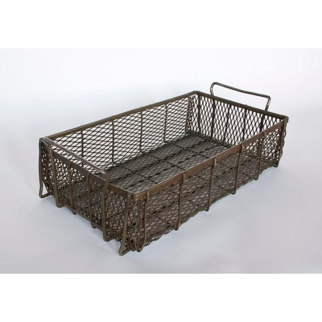 Great Industrial Metal Mesh container/basket with handles. Price is for one container. More containers available.