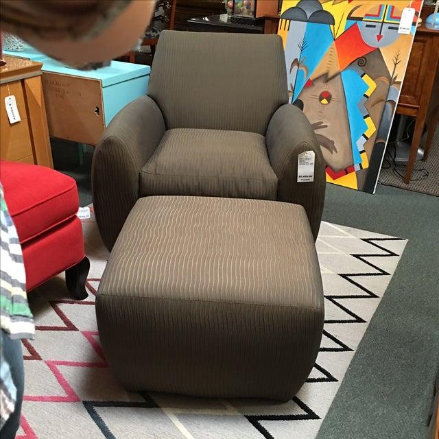 Dakota Jackson Ke-Zu Chair & Ottoman Set - Image 4 of 9