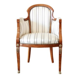 Antique Petite Biedermeier Style Armchair For Sale