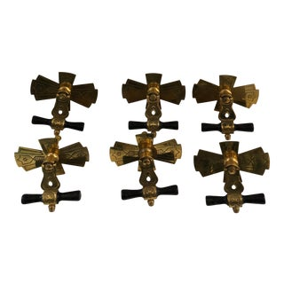 Victorian Eastlake Drawer Pulls - Set of 6 For Sale